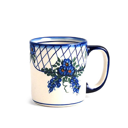 Lattice in Blue Straight Mug