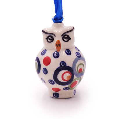 Ohhh! Owl ornament by Manufaktura Polish Pottery