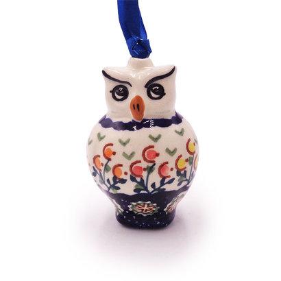 Mums Owl ornament by Manufaktura Polish Pottery