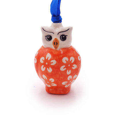 Orange Blossom Owl Ornament