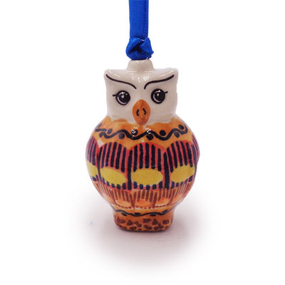 Candy Corn Owl Ornament
