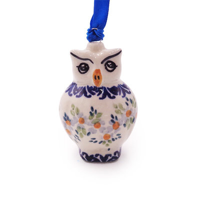 Wisteria Owl Ornament
