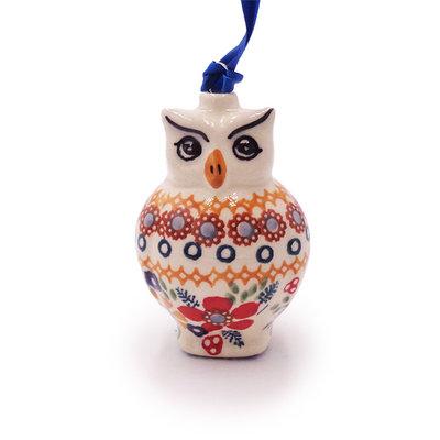 Posies Owl Ornament