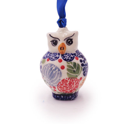 Rennie Owl ornament by Manufaktura Polish Pottery