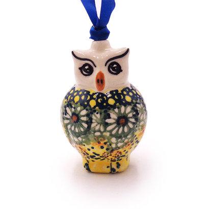 Roksana Owl ornament by Manufaktura Polish Pottery