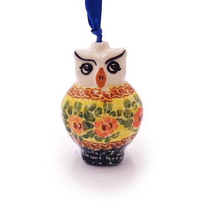Rose Marie Owl ornament by Manufaktura Polish Pottery