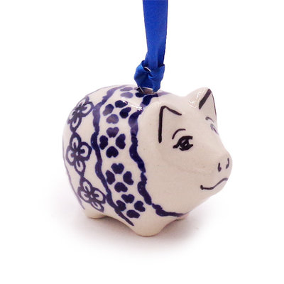 Diamond Lattice Piggy Ornament