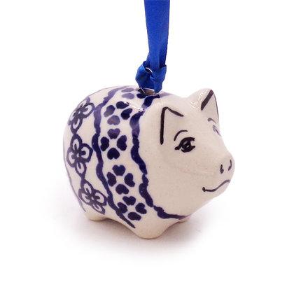Diamond Lattice Piggy Ornament