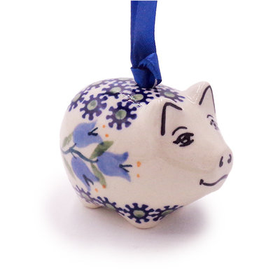 Bell Flower Piggy Ornament