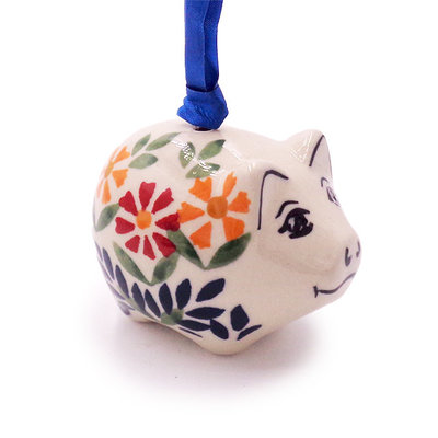 Marigolds Piggy Ornament