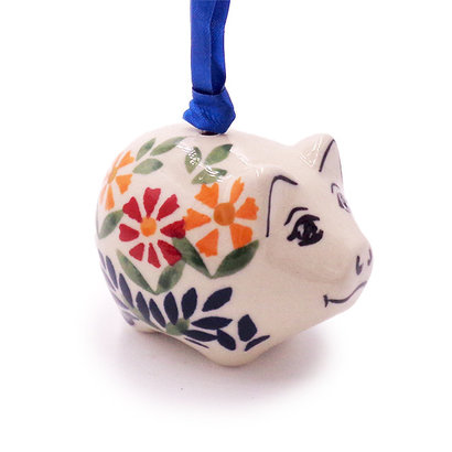 Marigolds Piggy Ornament