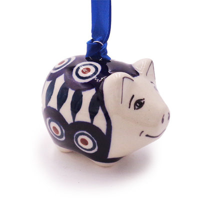 Peacock Piggy Ornament