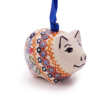 Posies Piggy Ornament