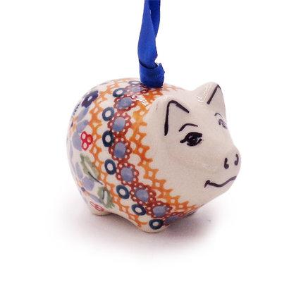 Posies Piggy Ornament