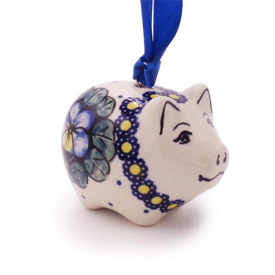 Pansies Piggy Ornament