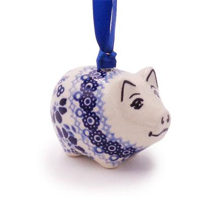 Indigo Garden Piggy Ornament