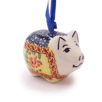 Rose Marie Piggy Ornament