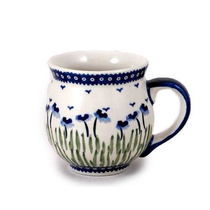 Blue Poppies Bubble Mug - Lrg
