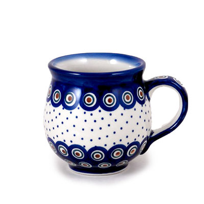 Dotted Peacock Bubble Mug - Lrg