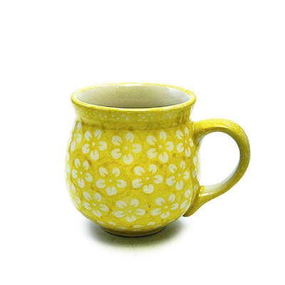 Yellow Blossom Bubble Mug - Med
