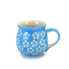 Turquoise Blossom Bubble Mug - Med