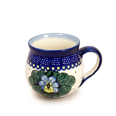 Pansies Bubble Mug - Med