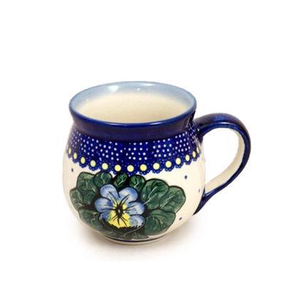 Pansies Bubble Mug - Med