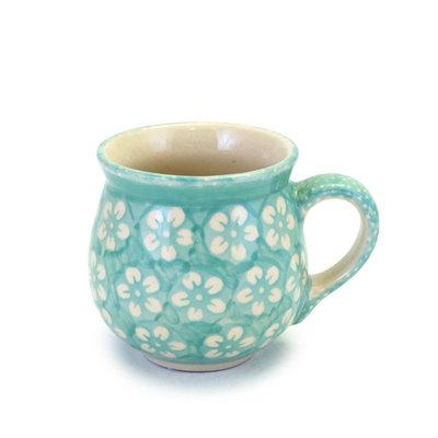 Mint Blossom Bubble Mug - Med