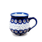 Dotted Peacock Bubble Mug - Med