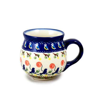 Blue Bird Bubble Mug - Med