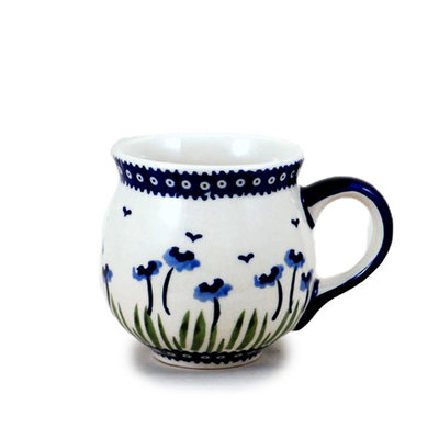 Blue Poppies Bubble Mug - Med