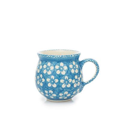Turquoise Blossom Bubble Mug - Sm