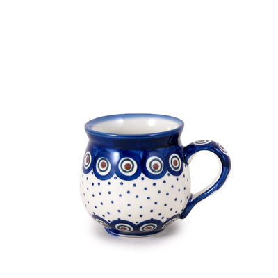 Dotted Peacock Bubble Mug - Sm