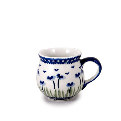 Blue Poppies Bubble Mug - Sm
