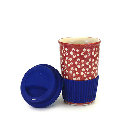 Scarlet Blossom Travel Mug