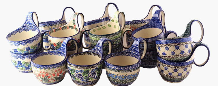 Everyone Loves Our Polish Pottery Loop Handled Soup Cups