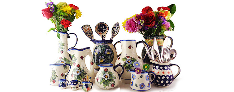 Check Out Our Wide Variety of Polish Pottery Pitchers