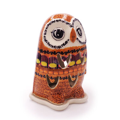 Candy Corn Illuminated Owl