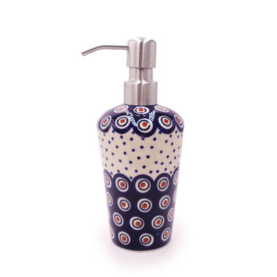 Dotted Peacock Soap Pump
