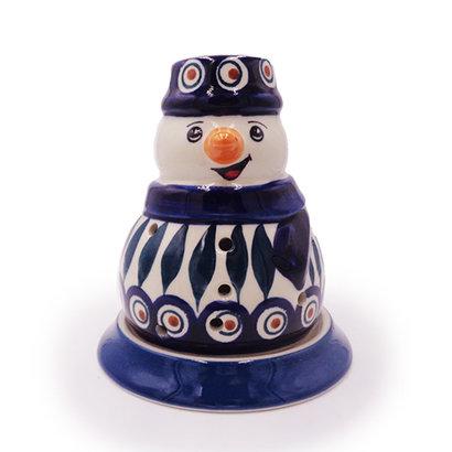 Peacock Illuminated Snowman