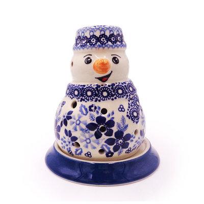 Indigo Garden Illuminated Snowman