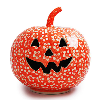 Orange Blossom Pumpkin Lantern - Lrg