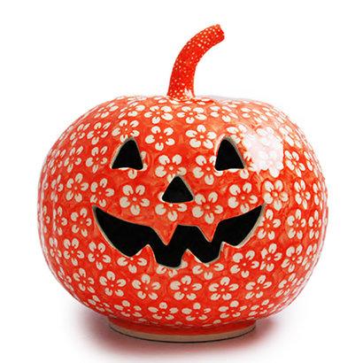 Orange Blossom Pumpkin Lantern - Lrg