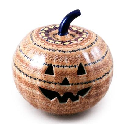 Candy Corn Pumpkin Lantern - Lrg
