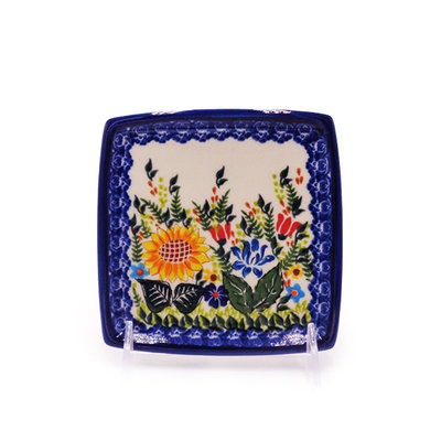 Kalich Sunflower Garden Decorative Square Plate 13