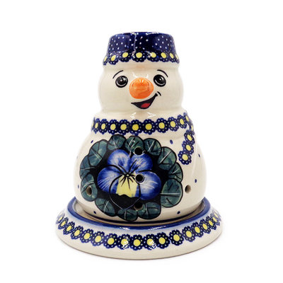 Pansies Illuminated Snowman