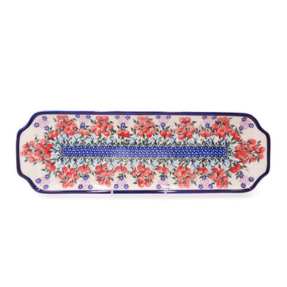 Red Berries Rectangular Tray - Sm