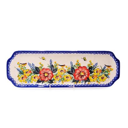 Poppy Garden Rectangular Tray - Sm