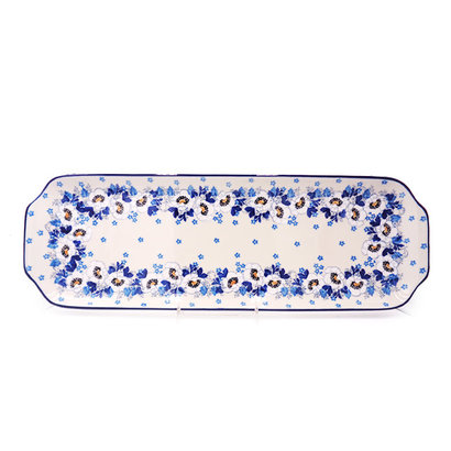 Snow Poppy Long Rectangular Tray