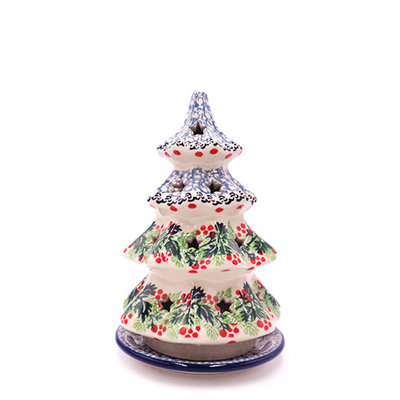 "CA  Holly Berry 7"" Tree Luminary"